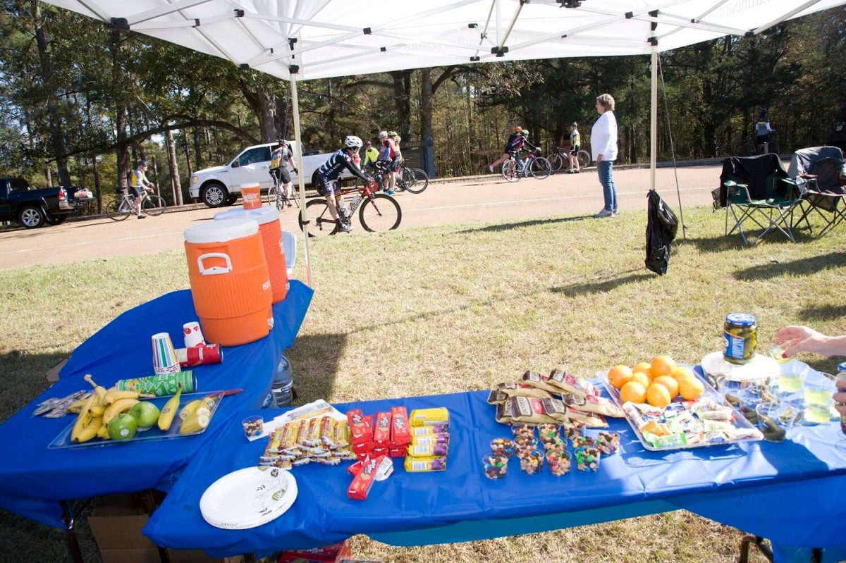 Food and refreshments provided by DunbarMonroe Attorneys At Law for the Koz and Back 112 Mile Bike Ride