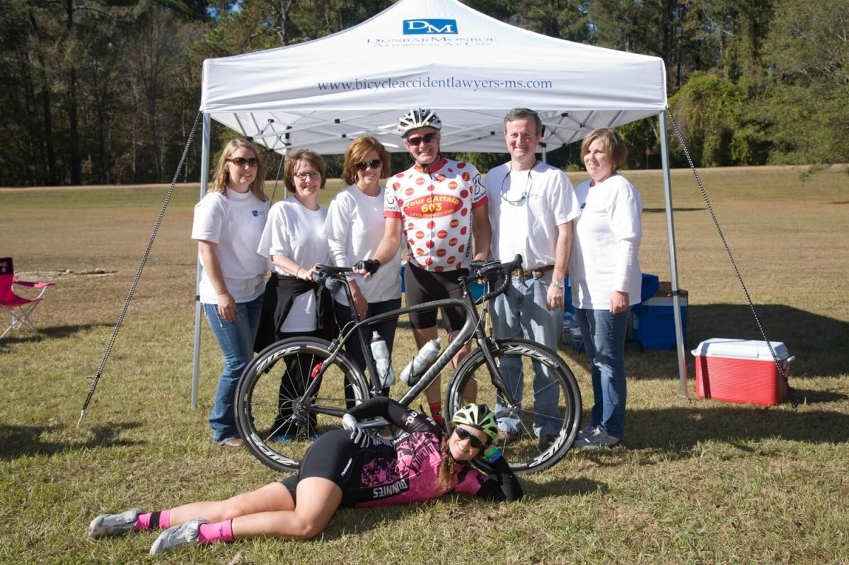 DunbarMonroe Attorneys At Law sponsoring the Koz and Back 112 Mile Bike Ride Event